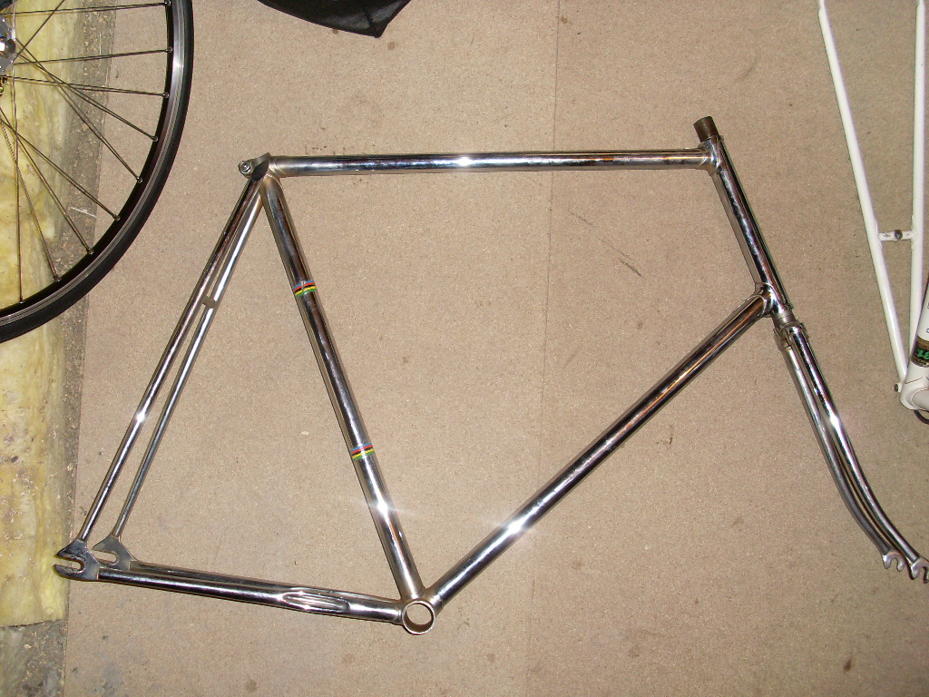 For Sale: Chrome track frame campag dropouts low pro but high - up ...