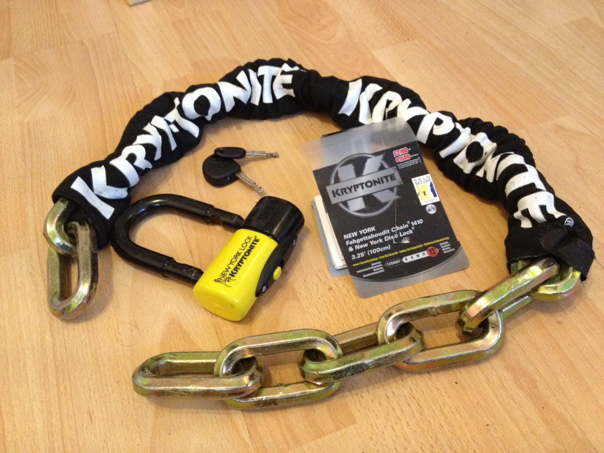 c827484952353 For Sale  Kryptonite New York Fahgettaboudit chain lock 1410