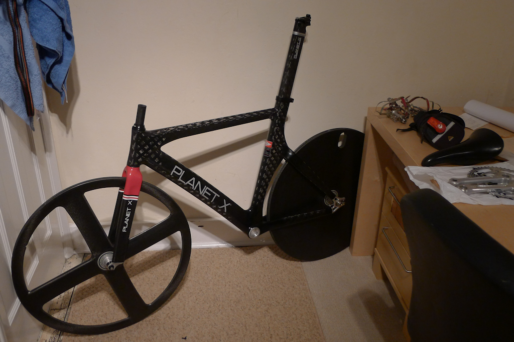 For Sale: 56cm Planet-X stealth track frame, corima rear disc and ...
