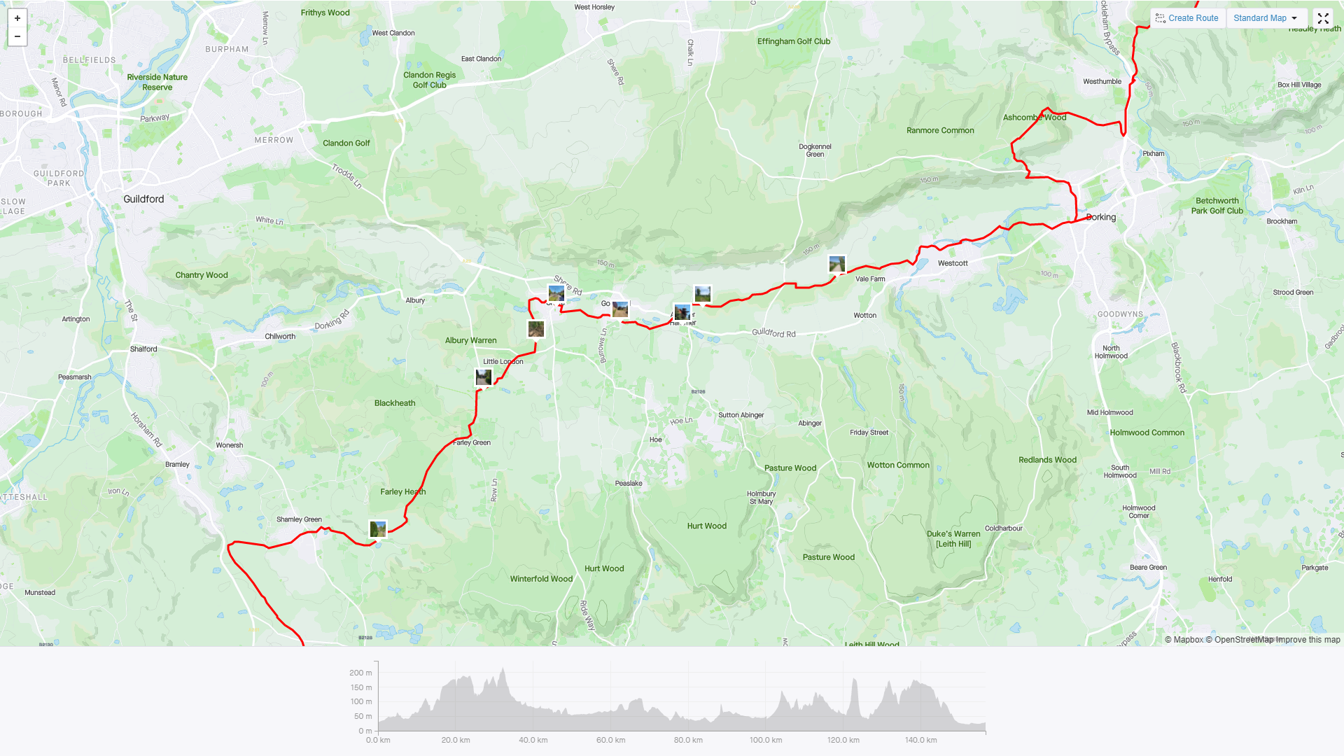 Dorking to Bramley May 30th 2021.png