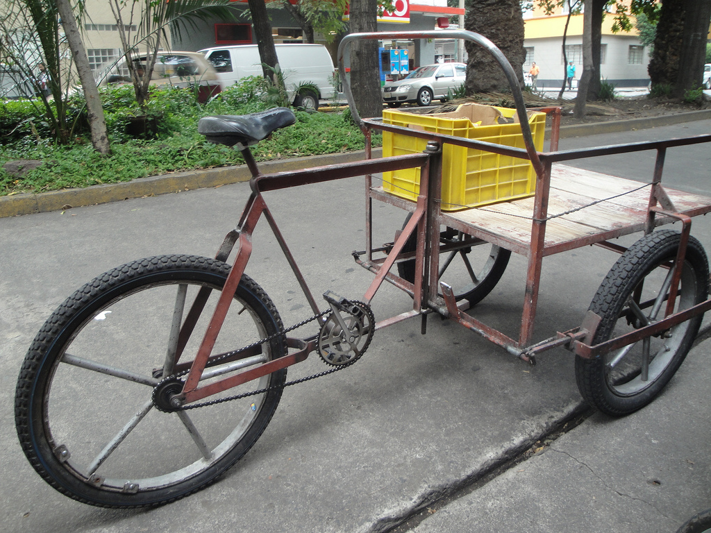Homemade Cargo Bike Zero Use Of Tubing Note Foot Brake